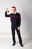Man with christmas ball Royalty Free Stock Image
