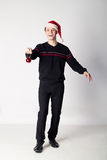 Man with christmas ball Stock Photos