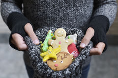 Man with christmas cookies Stock Image