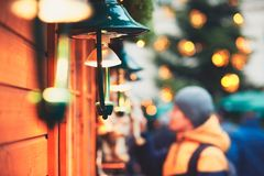 Man in christmas market Royalty Free Stock Images