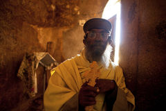 A man in  a church, Ethiopia Royalty Free Stock Photography