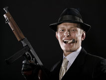 Man with a cigar stock photography