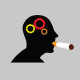 Man with cigar art vector illustration Stock Photo
