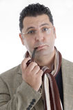 Man with cigar in his mouth Royalty Free Stock Image