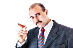 Man with cigar Stock Images