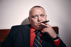 Man with cigar Royalty Free Stock Photos