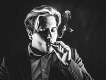 Man with cigar Stock Image