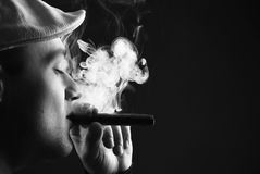 Man with cigare royalty free stock image