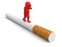 Man and Cigarette  (clipping path included) Royalty Free Stock Photography