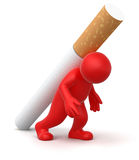 Man with Cigarette (clipping path included) Stock Photos
