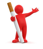 Man and Cigarette  (clipping path included) Stock Photos