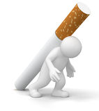 Man with Cigarette (clipping path included) Stock Photo