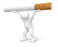 Man with Cigarette (clipping path included) Royalty Free Stock Photos