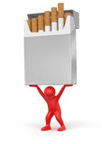 Man and Cigarette Pack  (clipping path included) Stock Images
