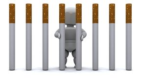 Man in Cigarette Prison Royalty Free Stock Photography