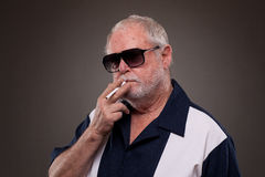 Man with a cigarette Royalty Free Stock Photography