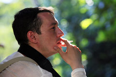 Man with cigarette Stock Photos