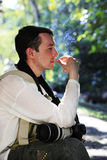 Man with cigarette Royalty Free Stock Images