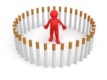 Man with Cigarettes (clipping path included) Stock Photo