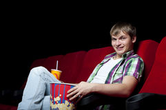 Man in cinema Royalty Free Stock Image