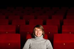 Man in the cinema Stock Photography