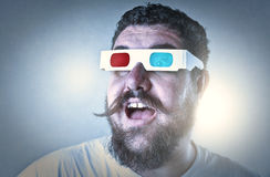 Man at the cinema Royalty Free Stock Images