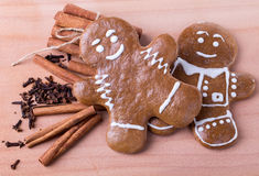 Man cinnamon spice cookies Royalty Free Stock Photo