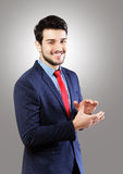 Man clapping hands Stock Photography