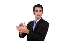 Man clapping Stock Images