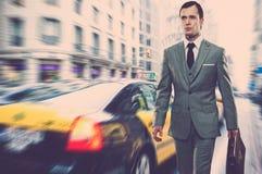 Businessman outdoors Stock Image