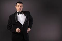 Man in Classic Tuxedo.Fashion Stock Photos