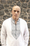 Man in the classic Ukrainian embroidered shirt Royalty Free Stock Photo