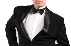 Man in classical Tuxedo Royalty Free Stock Images