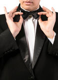 Man in classical Tuxedo Royalty Free Stock Photos