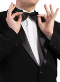 Man in classical Tuxedo Stock Photography