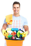 Man cleaner. Stock Photo