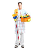 Man cleaner. Stock Images