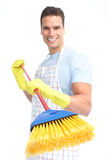 Man cleaner. Royalty Free Stock Image