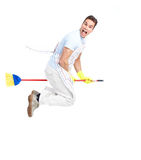 Man cleaner. Royalty Free Stock Photography