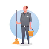 Man Cleaner Icon Cleaning Service Worker Professional Occupation Stock Photos