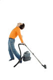 Man cleaning Royalty Free Stock Photo