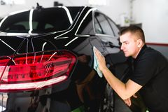 Car cleaning and polishing stock images