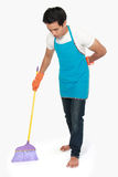 Man cleaning floor Stock Photography