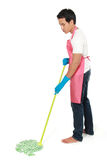 Man cleaning floor Royalty Free Stock Images