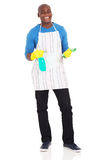 Man cleaning product Royalty Free Stock Photography