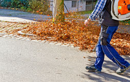 Man cleaning the street Royalty Free Stock Image