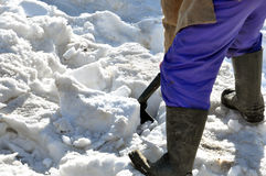 Man clearing snow Royalty Free Stock Photo