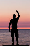 Man with clenched fist Royalty Free Stock Image