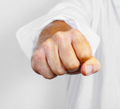 Man clenching his fist Stock Photo