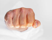 Man clenching his fist Royalty Free Stock Photography